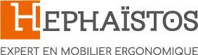 Hephaïstos expert mobilier ergonomique logo entreprise