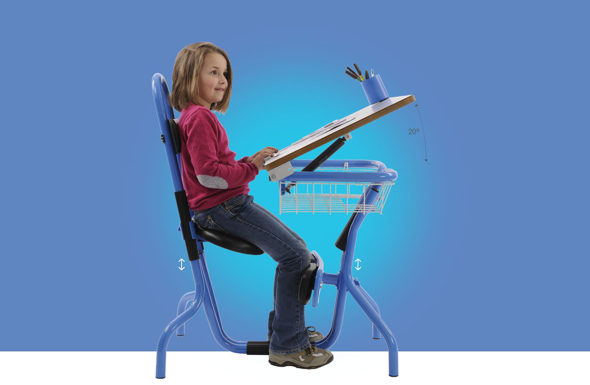 Hephaïstos mobilier scolaire ergonomique table siège de bureau