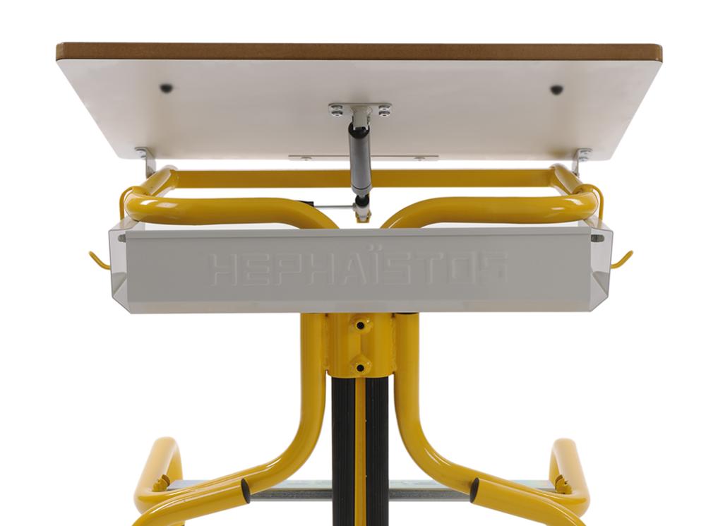 Hephaïstos mobilier ergonomique bureau hergon plan inclinable casier rangement
