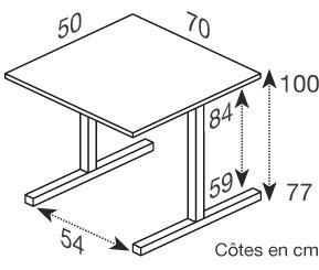Hephaïstos mobilier ergonomique hergon dys dimensions