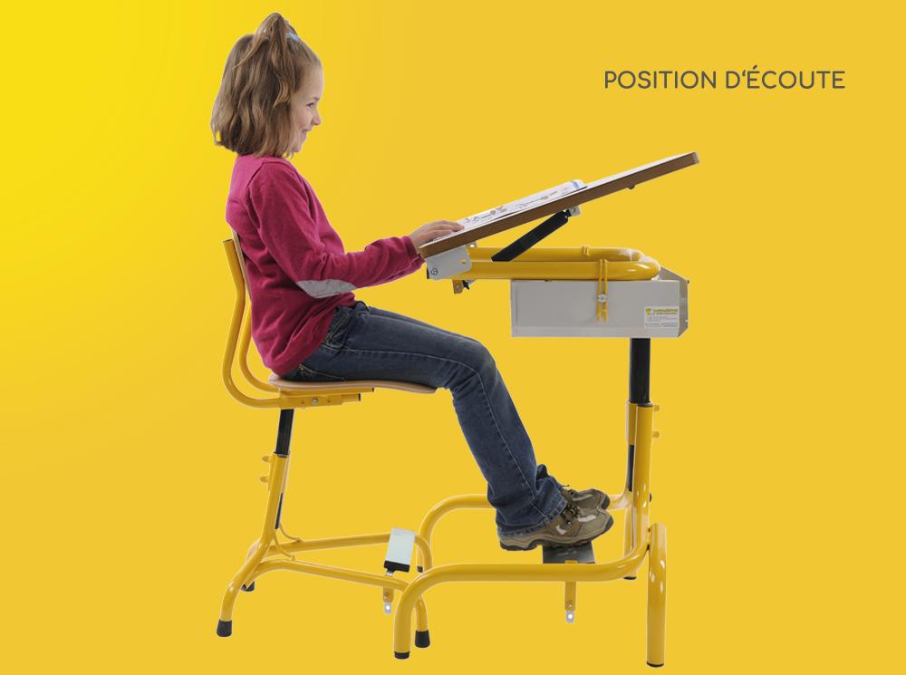 Hephaïstos mobilier ergonomique hergon position écoute