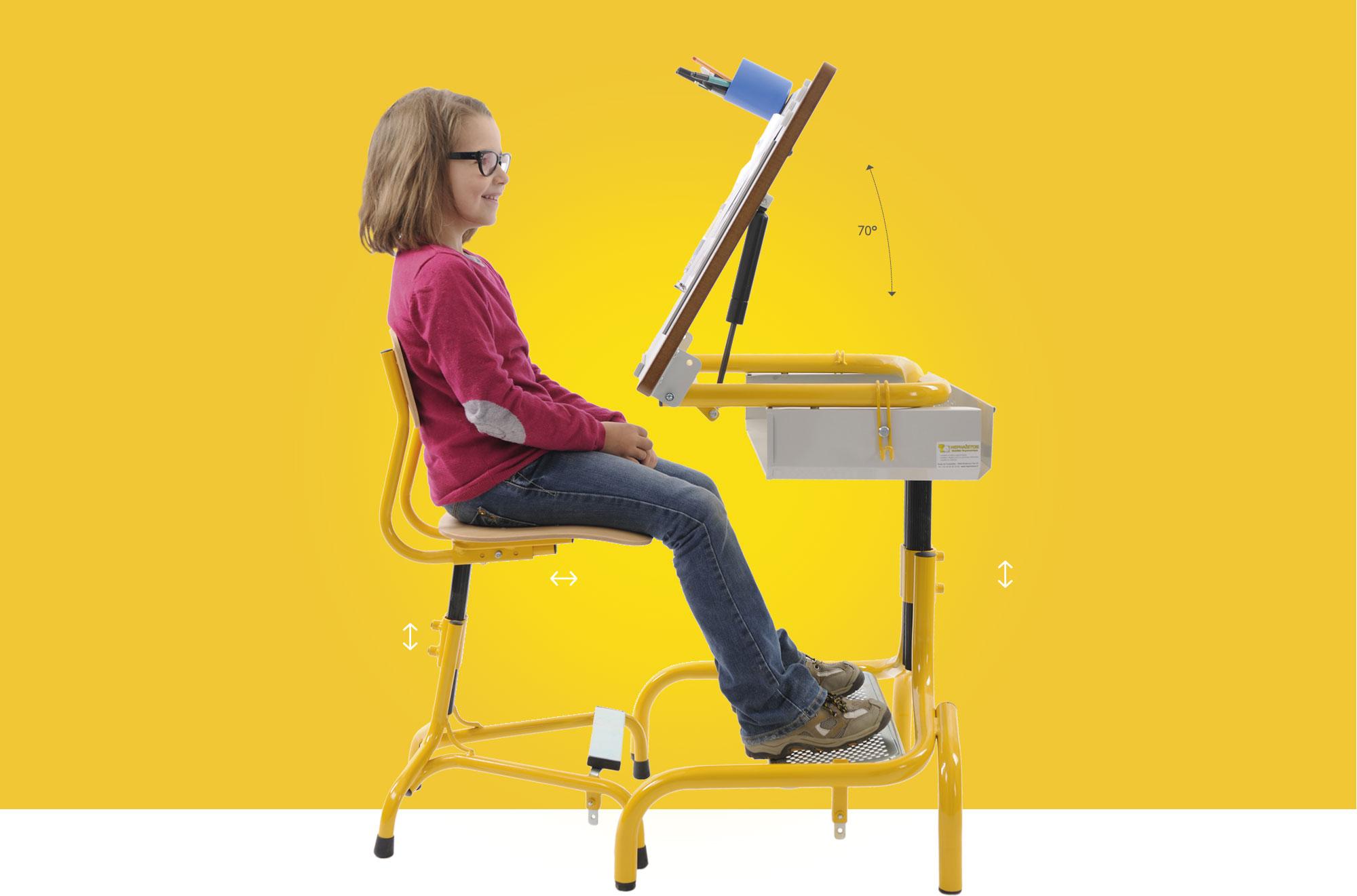 Hephaïstos mobilier ergonomique table ergonomique réglable adapté modulable