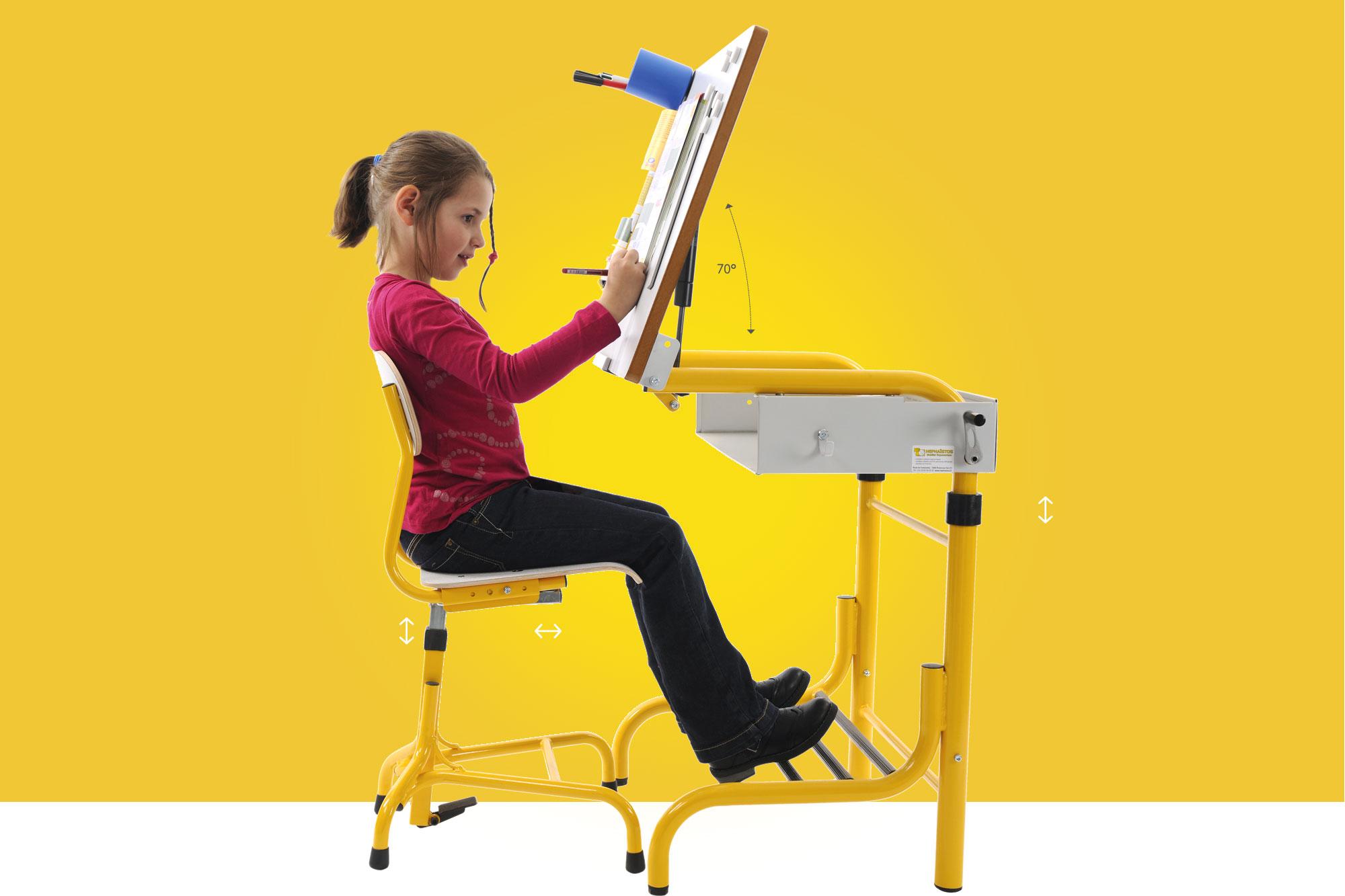 Hephaïstos mobilier ergonomique bureau et siège ergonomique herlift vision