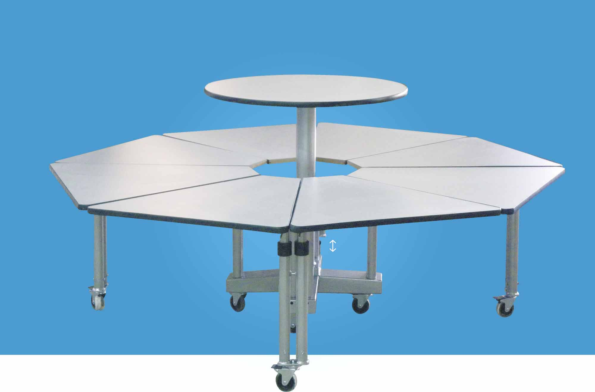 Hephaïstos mobilier ergonomique poseidon table mutiple adapté fauteuils roulants