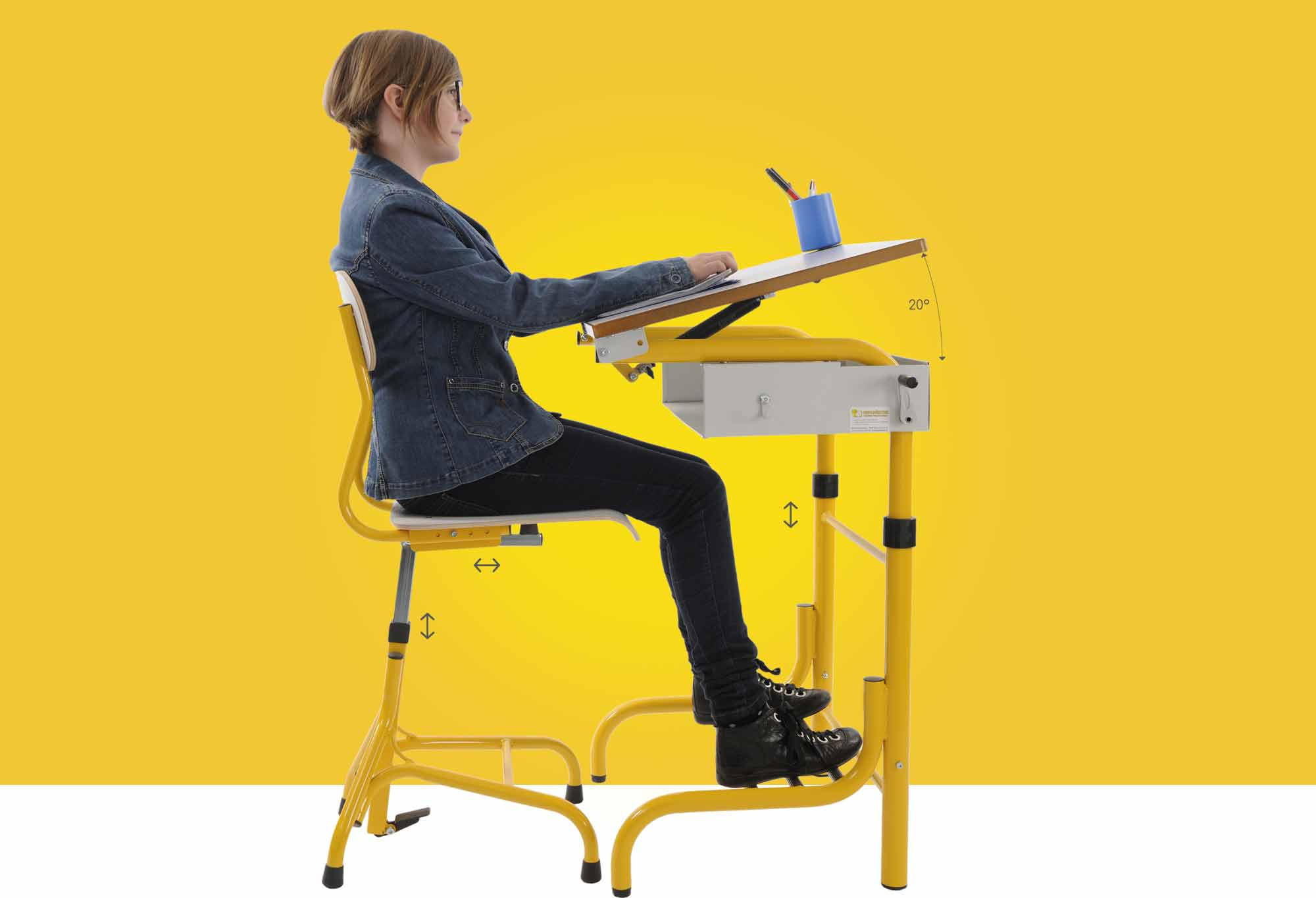 Chaise Bureau Ergonomique Enfant herlift - hephaistos
