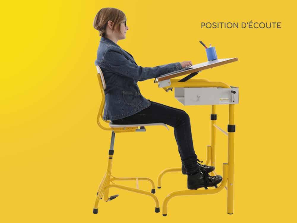 Hephaïstos mobilier ergonomique position écoute herlift