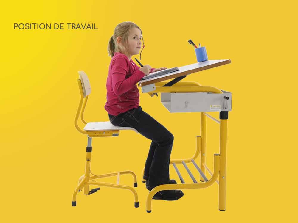 Hephaïstos mobilier ergonomique herlift position travail