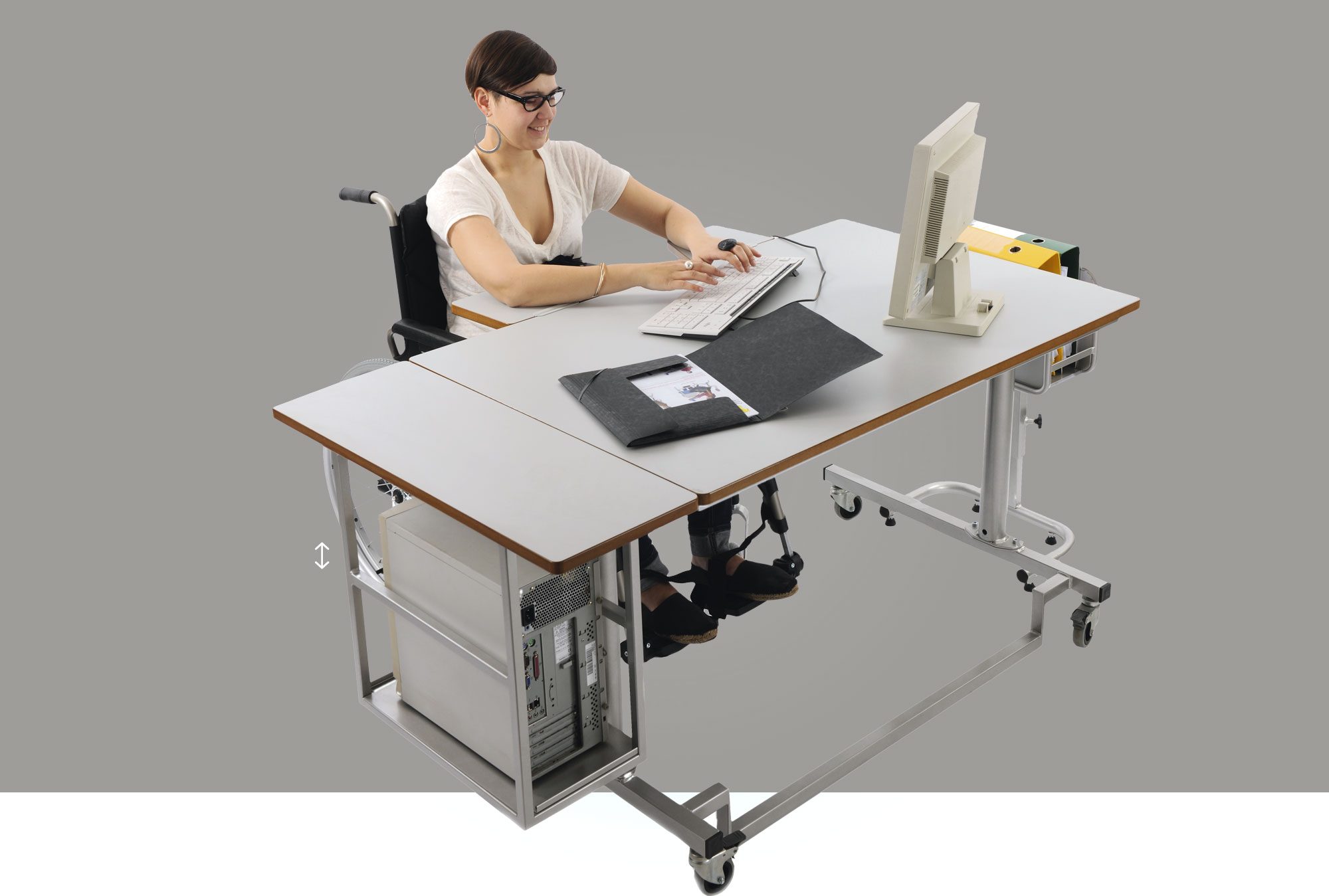 Hephaïstos mobilier adpaté handicap Bureau Apollon table individuelle