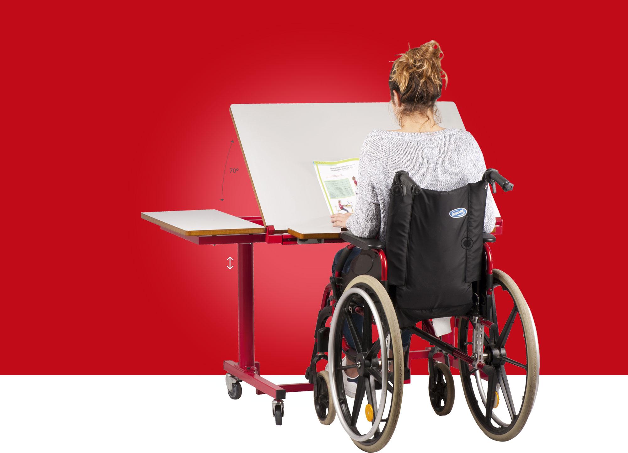 Hephaïstos mobilier ergonomique gaia table ergonomique plan inclinable