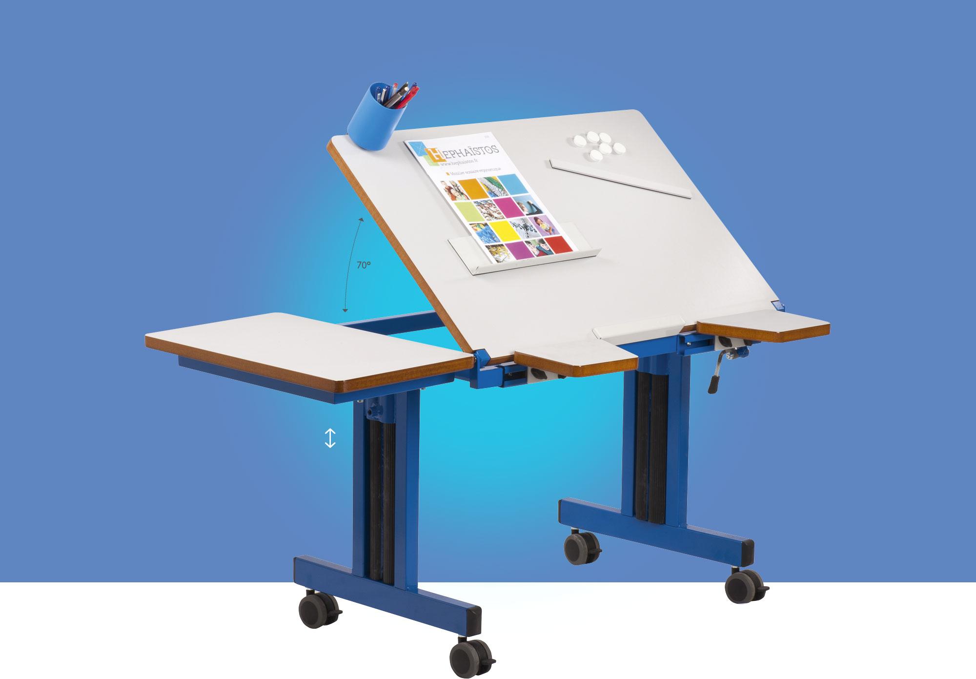 Hephaïstos mobilier scolaire ergonomique table individuelle Hestia